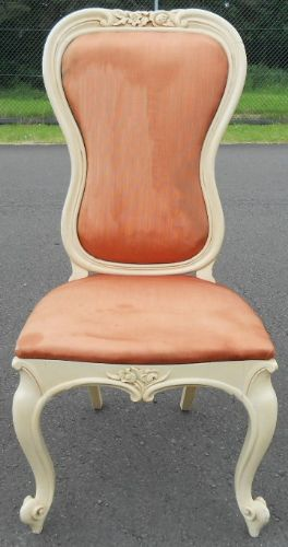 Painted French Style Upholstered Bedroom Chair
